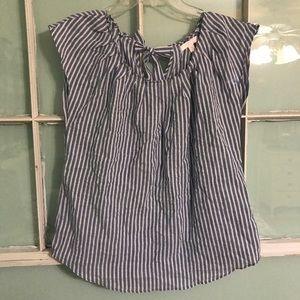 Lauren Conrad blue stripe blouse